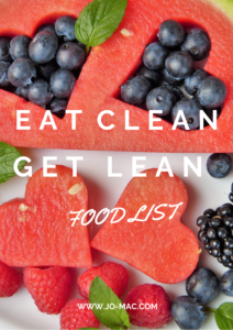 Eat Clean Get Lean Food List COVER PAGE